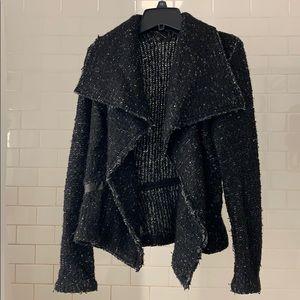 Ann Taylor Drape Tweed Sweater Jacket (XS)